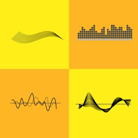 Equalizer Interface Variants Illustration. Illustration