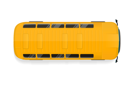 Bus Top View Flat illustration.