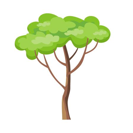 녹색 잎 나무입니다. 일러스트