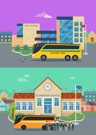 Elementary and High School Flat Concepts.