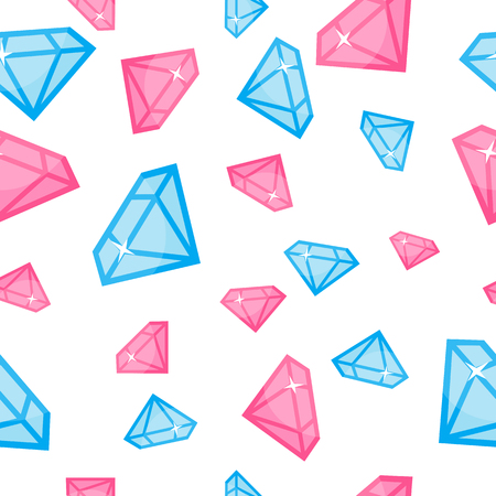 Diamonds of Different Size Seamless Pattern Vector Illustration