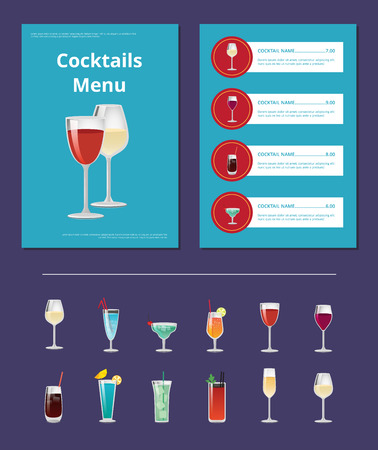 Cocktails Menu Advertentie Posterontwerp Alcohol
