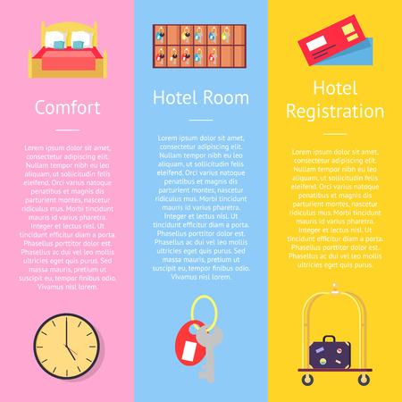 컴포트 등록 카드 포스터 세트. 스톡 콘텐츠 - 92414872
