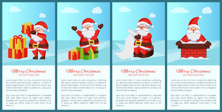 Merry Xmas and Happy New Year Posters Santa Claus