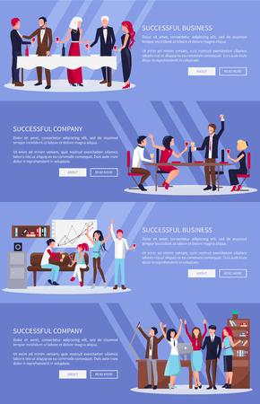 Successful Business, Company Vector Illustration.
