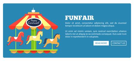 Kermis advertentie Poster vectorillustratie Stock Illustratie