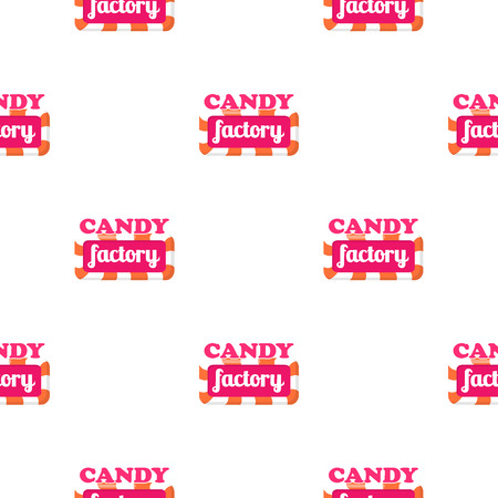 Vector illustration of wrapping paper, wallpaper or package design in confectionery concept
