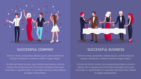 Successful Company Business Vector Illustration Illustration