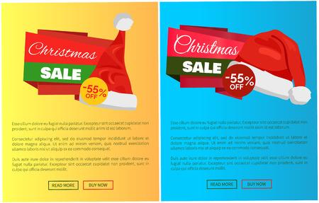 뜨거운 가격 산타 클로스 모자 프로 모션 레이블 크리스마스 판매 개념입니다.