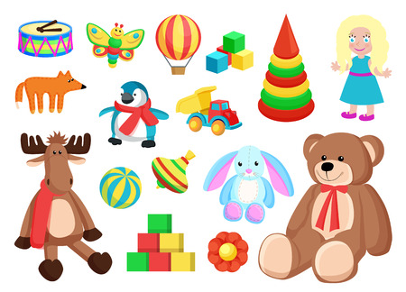 Toys Collection of Factory Vector Illustration Illustration
