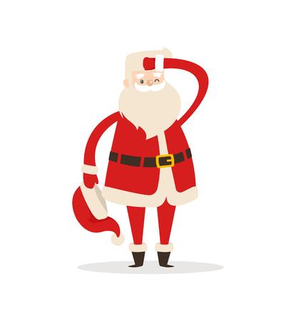 Cute Santa Claus Light Icon Vector Illustration
