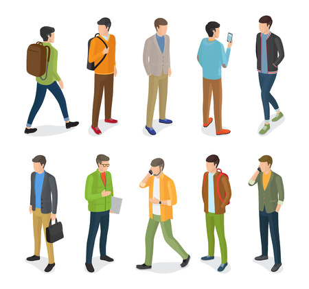Group of Teenage Guys Dressed in Different Clothes