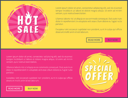 Hot Sale Special Offer Card Vector Illustration Ilustrace