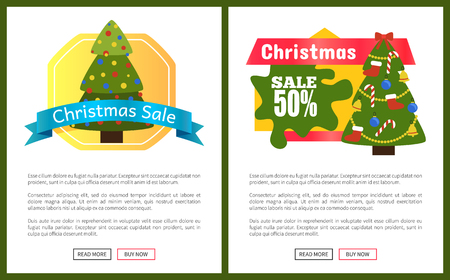 Christmas Sale Buy Now Posters Vector Illustration Stock Vector - 93482569