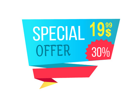 Special Offer with 30 Off Promotional Emblem Stock Vector - 93482699