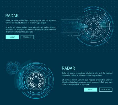 Radar Layout with Many Figures Vector Illustration  イラスト・ベクター素材