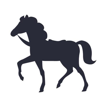Cartoon Horse Vector Illustration Isolated White Illustration