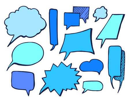 Bubbles Blue Drawn Element Vector Illustration