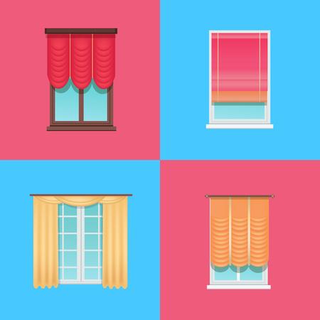 Set of Varied Interior Items Vector Illustration