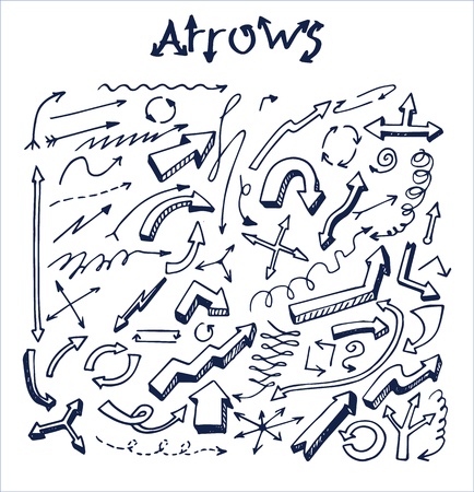 Lot of Pretty Arrows Sketches Vector Illustration