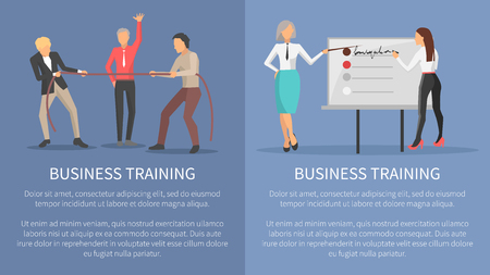 Business Training Conceptual Posters Competitions Illustration