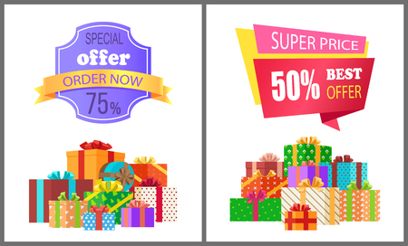 Order Now Special Exclusive Offer Super Price Sale Illustration