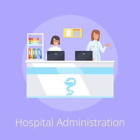 Hospital Administration on Vector Illustration
