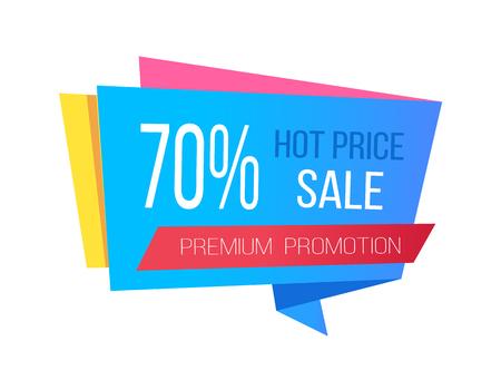 뜨거운 가격 및 70 할인 프로모션 스티커 판매
