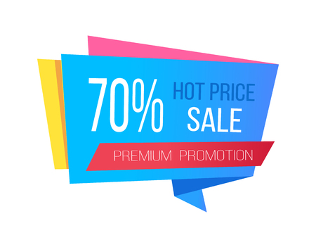 Sale with Hot Prices and 70 Off Promo Sticker