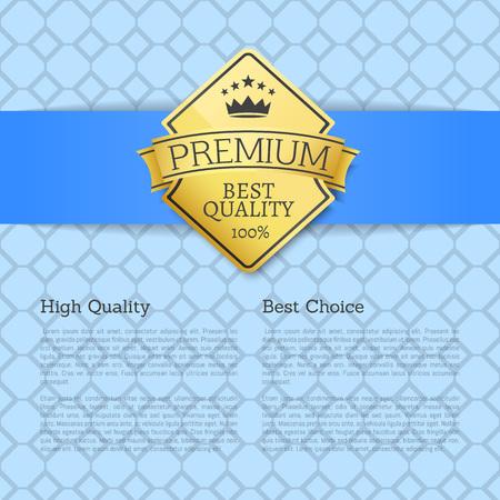 High Quality Choice Golden Label Guarantee Sticker Illustration