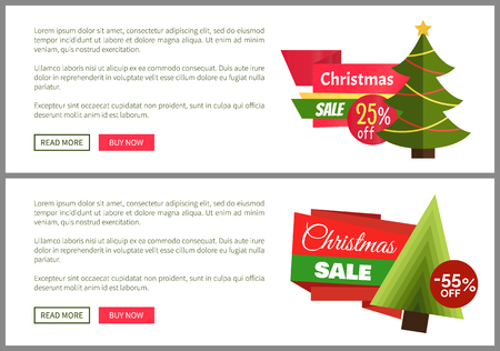 Christmas Sale Buy Now Posters Vector Illustration Stock Vector - 93766999