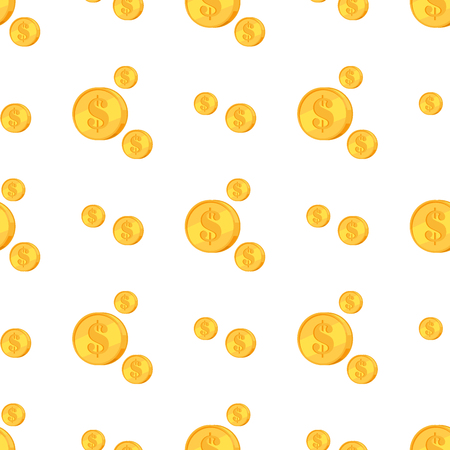Golden Coins with Dollar Sign Isolated on White