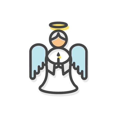 천사 날개 크리스마스 벡터 일러스트와 함께 일러스트