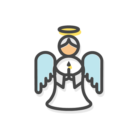 Angel with Wings Christmas Vector Illustration Illustration