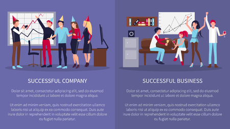 Successful Business Company Vector Illustration Illustration