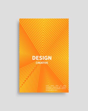 Creative Design Cover Vector Poster Triangle Line