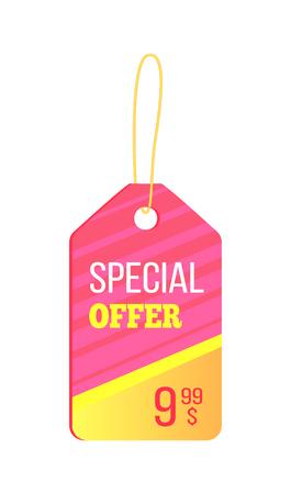 Special Offer colorful trinket vector illustration. Ilustração