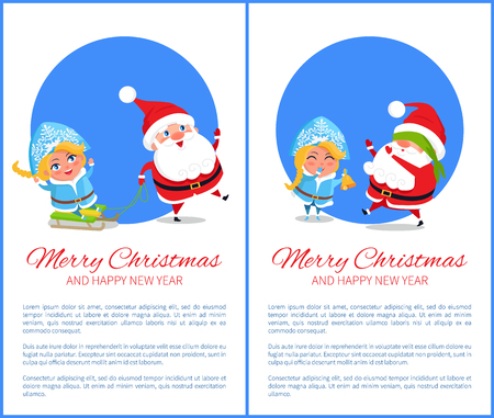 Merry Christmas Ride and Game Vector Illustration Illustration