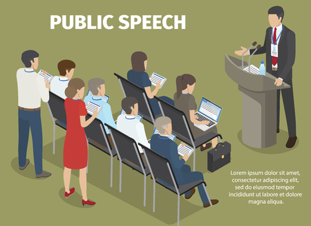 People Records Report of Manager on Public Speech Banco de Imagens - 93960687