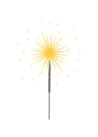 sparkler de la luz del icono del primer ilustración vectorial Ilustración de vector