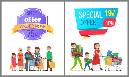 Special Offer Order Now Colorful Discount Banner. Illustration