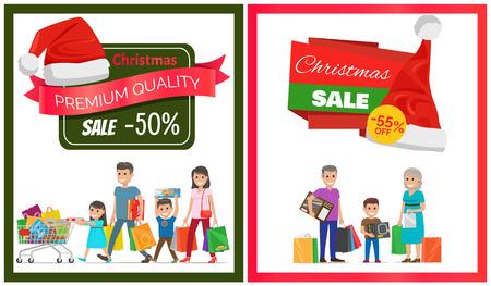 Premium Quality Half Price Christmas Sale Banner