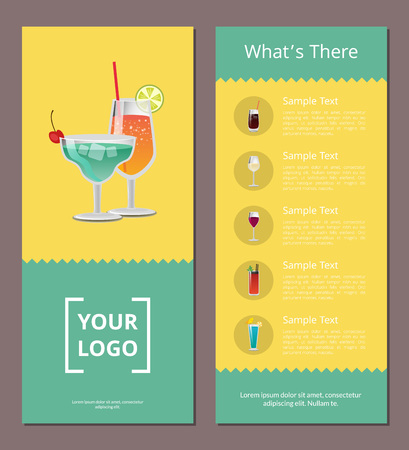 Whats There Cocktail Menu on Vector Illustration