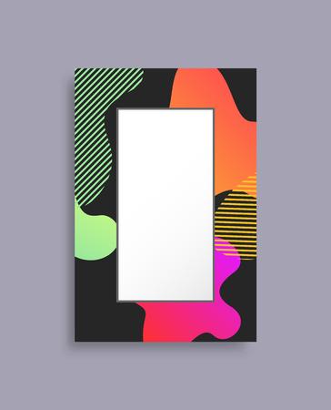 Decorated Coloful Photo Frame Vector Illustration Illustration