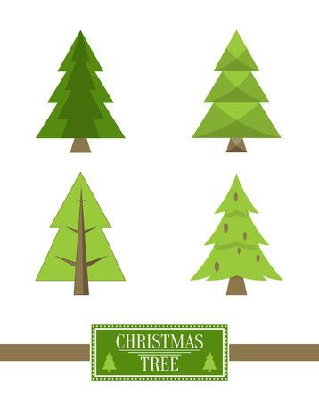 クリスマスツリーサインボードコレクションスプルースアイコン