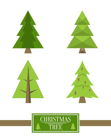Christmas Tree Sign Board Collection Spruce Icons