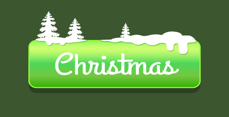 Christmas Green Push-button Vector Illustration 向量圖像