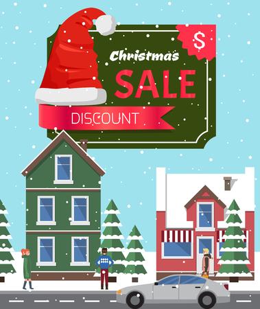 Christmas Sale Off Poster Vector Illustration Illustration