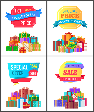 Set of Special Price Exclusive Discount Posters