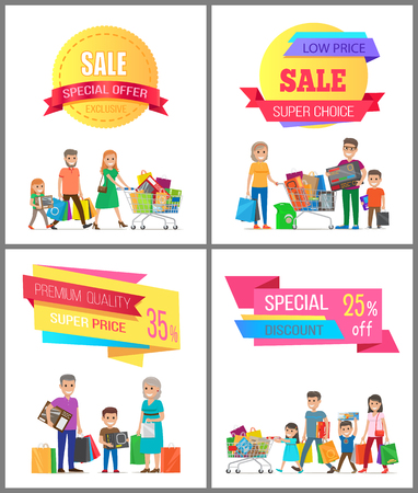 Set of Shopping Posters template